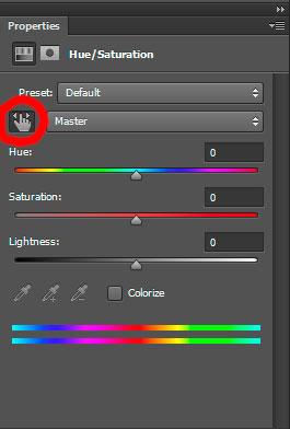 """""""Пипетка"""" в инструменте Saturation для выбора цвета"""