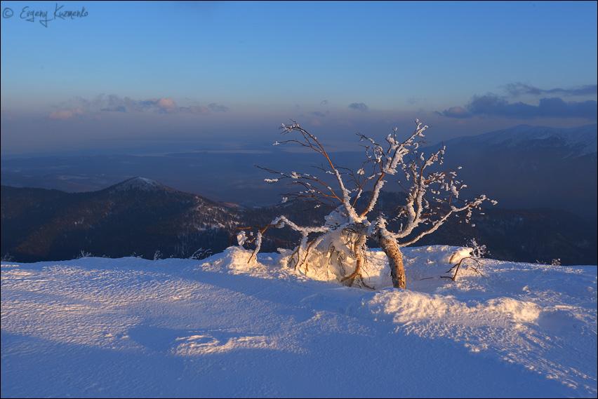 Закат на горе Лысой