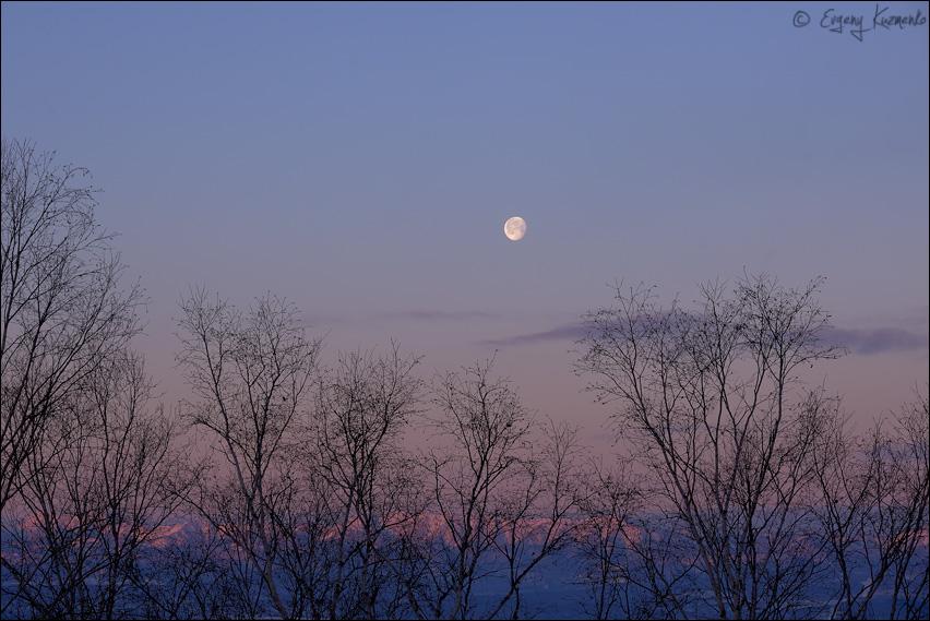 Морозный рассвет на Буреинском карьере