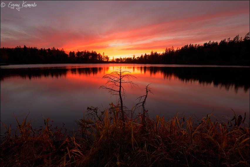 Закат на озере Моховое