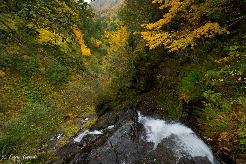 Шуйский водопад, вид сверху