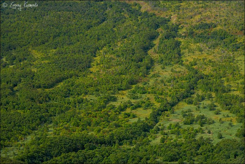 Вид над долину под Жданко