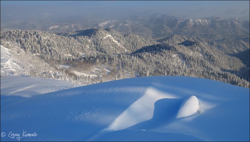 Вид на горы Тайник, Синяя, Старорусская