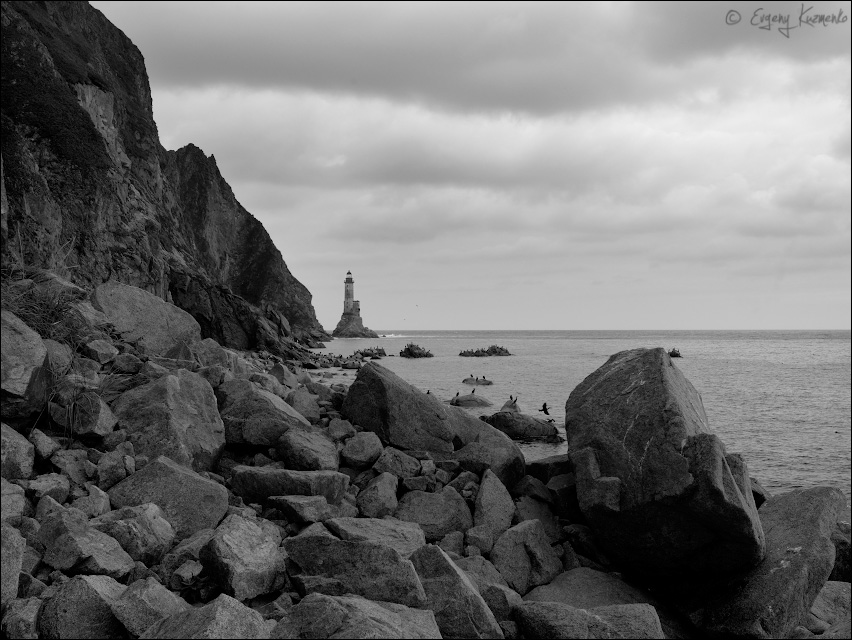 Знаменитый маяк на мысе Анива