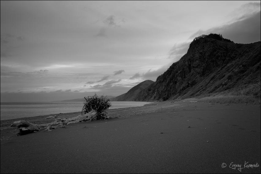 Пляж у последнего места ночевки