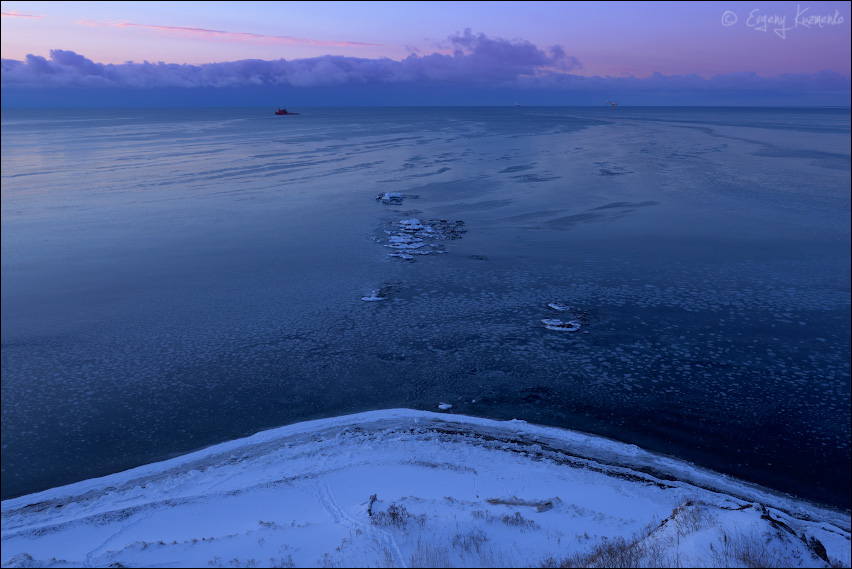 Утро на море. Уж очень холодное